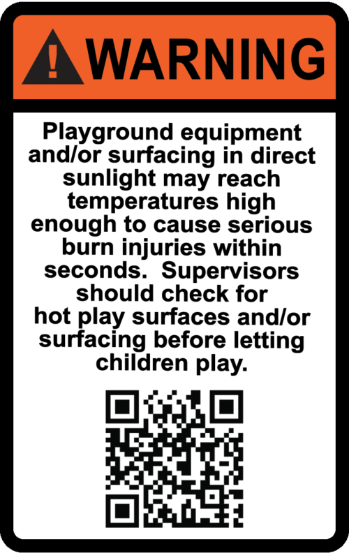 Hot Surface warning - az playground safety