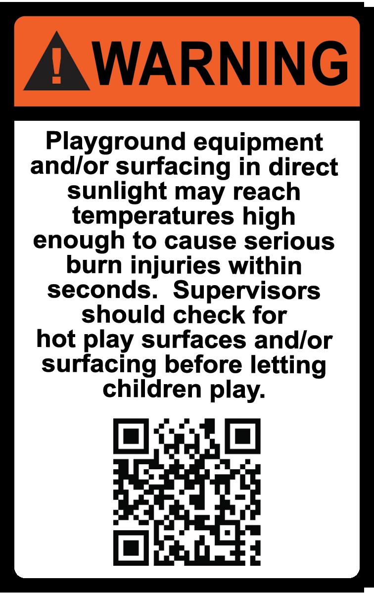 Hot Surface warning - az playground safety